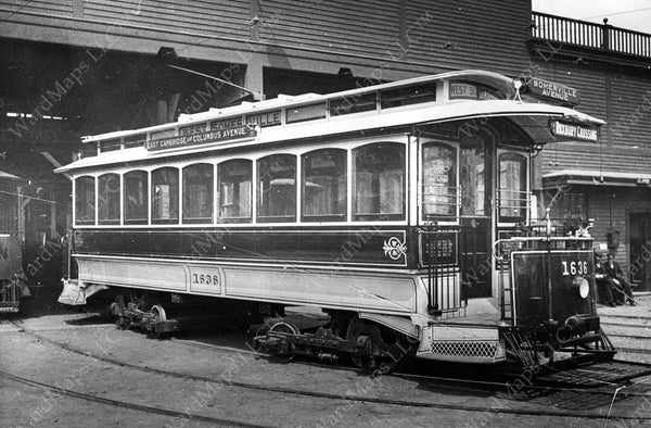 Boston Elevated Railway Co. Number 3 Type Streetcar Circa 1900
