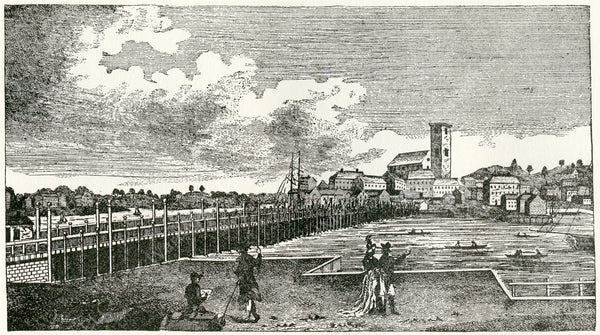 Charles River Bridge, Boston 1789