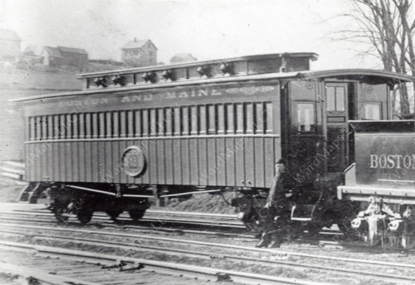 Boston & Maine Box Coach Early 1860s