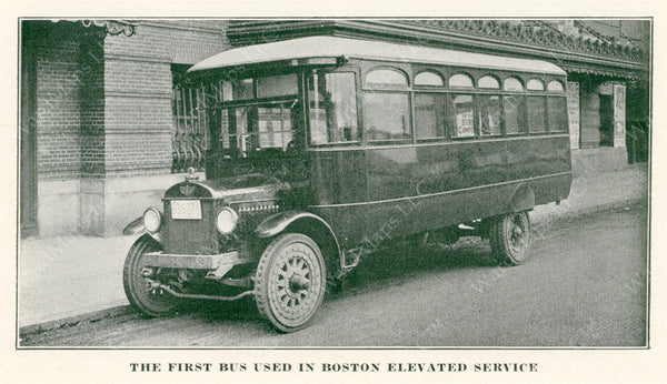 Boston Elevated Railway Company's First Bus 1922