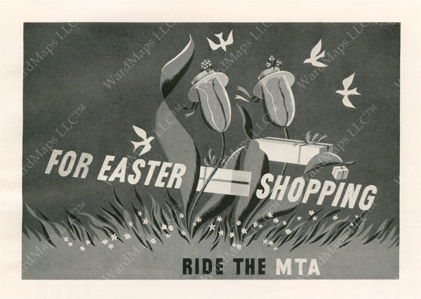 MTA Easter Shopping Advertisement Graphic 1952
