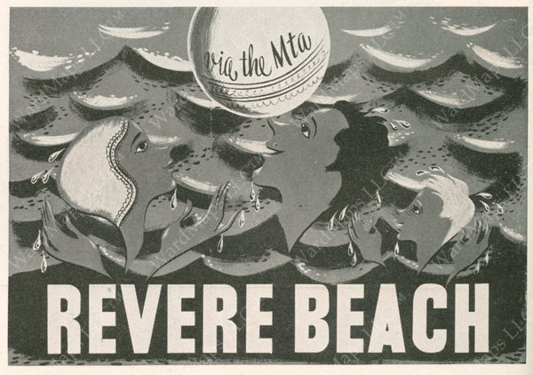 MTA Revere Beach Advertisement Graphic 1952