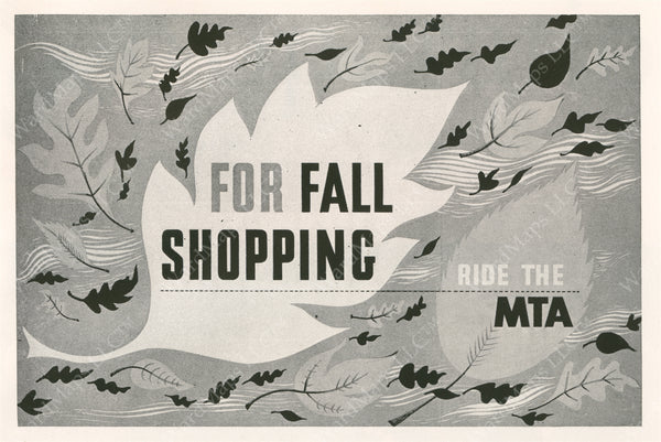 MTA Fall Shopping Advertisement Graphic 1952