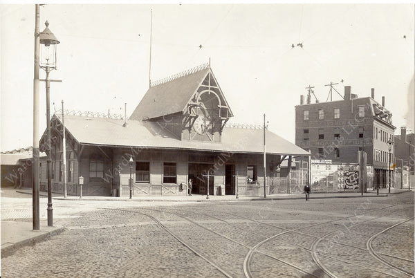 New York & New England Railroad Passenger Terminal, Boston, Massachusetts Circa Late 1880s