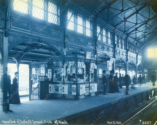 Dudley Terminal Upper Level Newsstand November 5, 1902