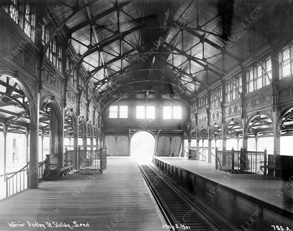 Dudley Terminal Rapid Transit Train Hall May 3, 1901