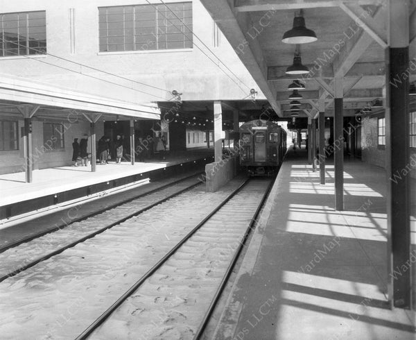 Day Square Station Rapid Transit Platforms, January 8, 1952