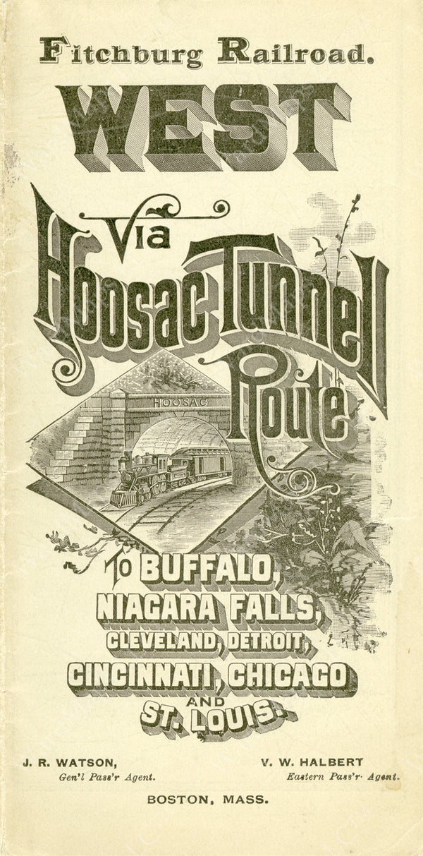 Fitchburg Railroad Timetable Cover 1895
