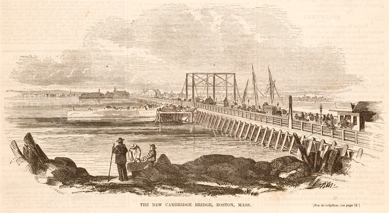 West Boston Bridge, Boston Circa Mid-1800s