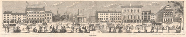 Tremont Street East Side, Boston Early 1850s