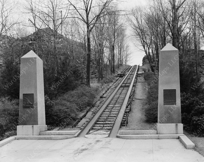 Granite Railway Incline Restored, Quincy, Massachusetts 1934