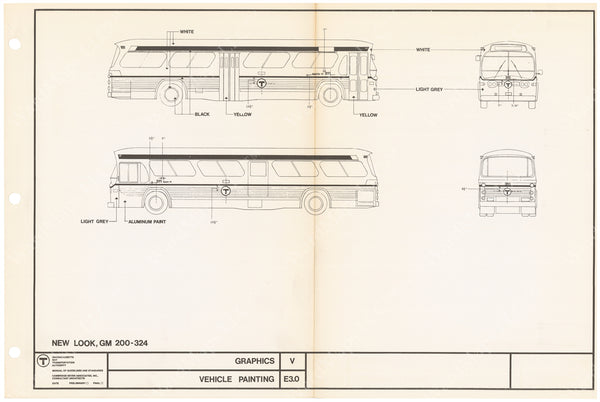 MBTA Vehicle Painting Diagrams for Buses 1966