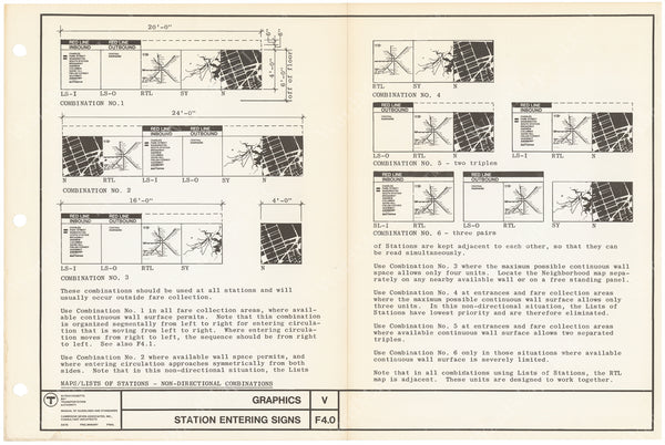 MBTA Station Wall Panel Specification Sheet 1966