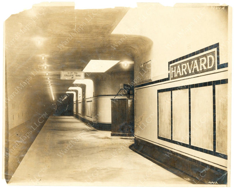 Harvard Station Rapid Transit Train Unloading Platform 1912