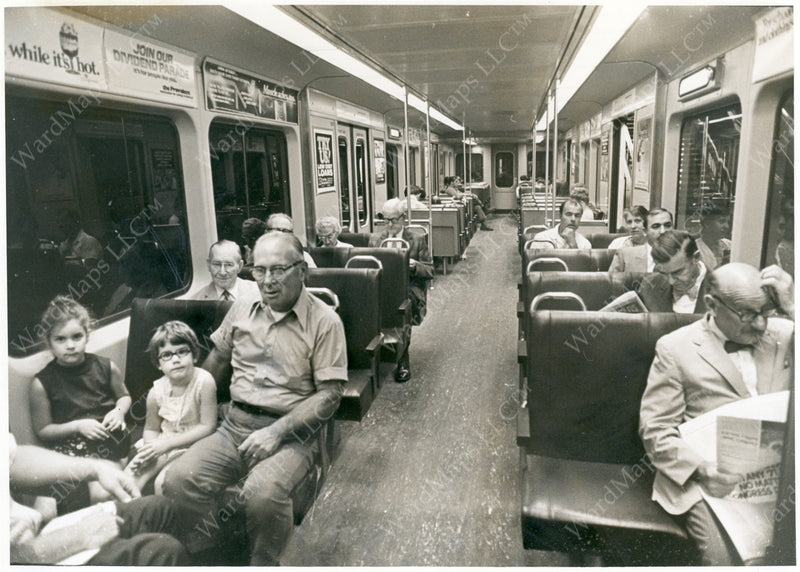 Red Line Type 1 Car Interior, September 5, 1971