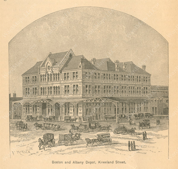 Boston & Albany Railroad Kneeland Street Depot, Boston 1889