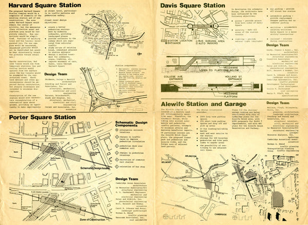Stations of the MBTA Red Line Northwest Extension 1976