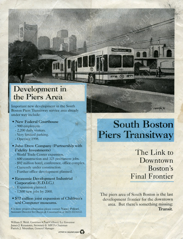 South Boston Transitway Pamphlet (Side A) Late 1980s