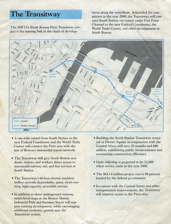 South Boston Transitway Pamphlet (Side B) Late 1980s