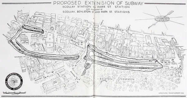 Proposed Streetcar Subway Expansion 1947