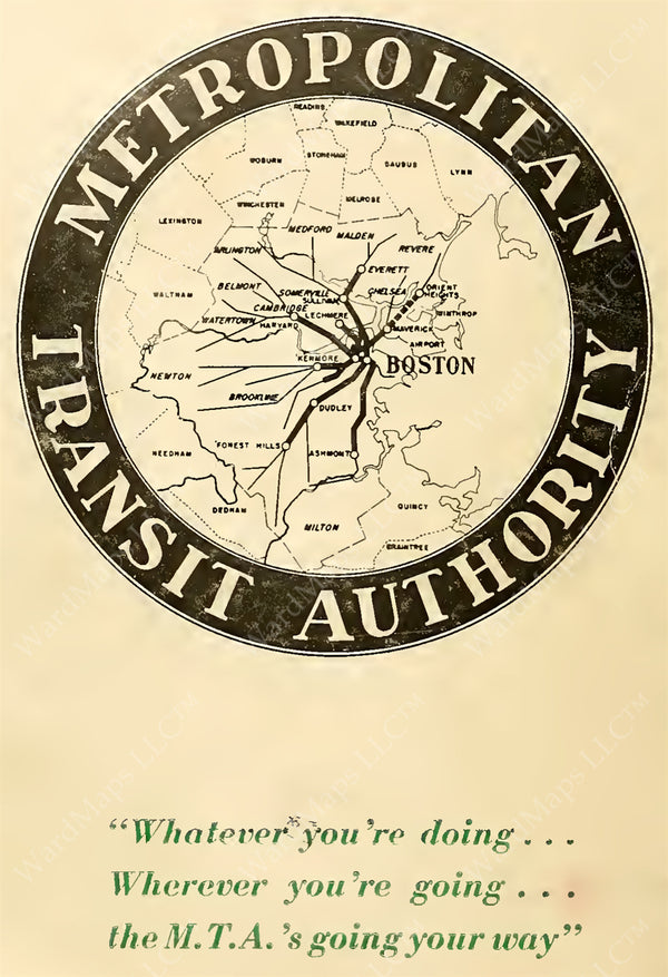 MTA Map Logo with Slogan 1948