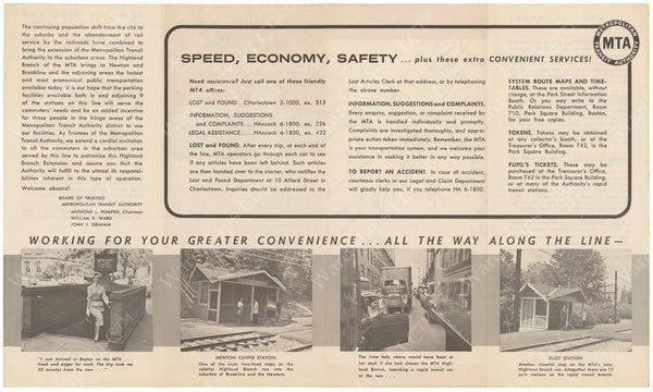 MTA Highland Branch Advertisement Circa 1959