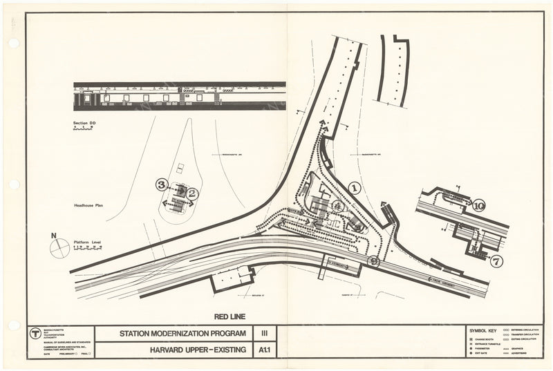 Preparing to Improve Harvard Station 1966 (Existing)