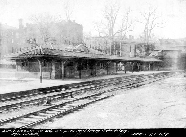 Milton Railroad Depot, December 27, 1927