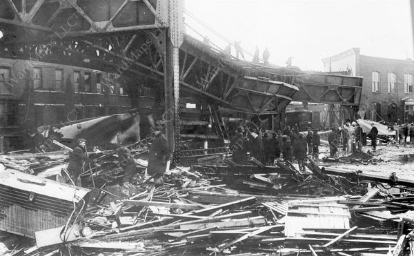 Damage to the Atlantic Avenue Elevated, January 15, 1919