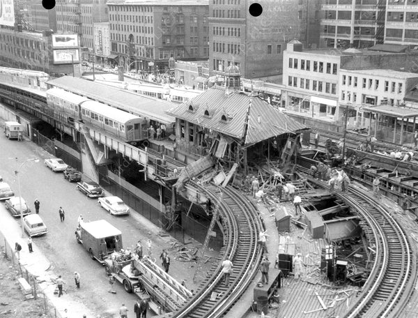 North Station on the El Explosion Aftermath, June 11, 1959