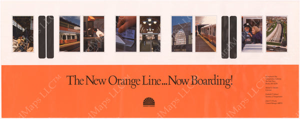 MBTA Orange Line Southwest Corridor Poster 1987