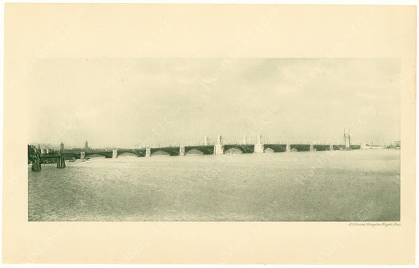 Cambridge Bridge Commission Report 1909: Completed Bridge Spanning Charles River