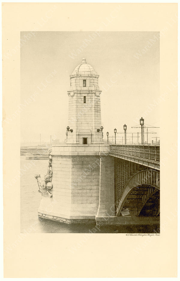 Cambridge Bridge Commission Report 1909: Completed Tower and Pier