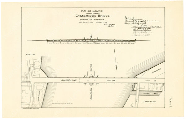 Cambridge Bridge Commission Report 1909 Plate 01