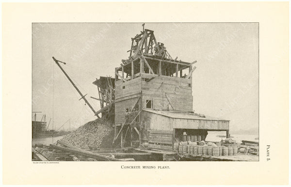 Cambridge Bridge Commission Report 1909 Plate 05: Concrete Mixing Plant
