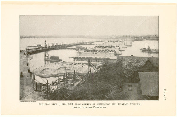 Cambridge Bridge Commission Report 1909 Plate 17: General View June 1904