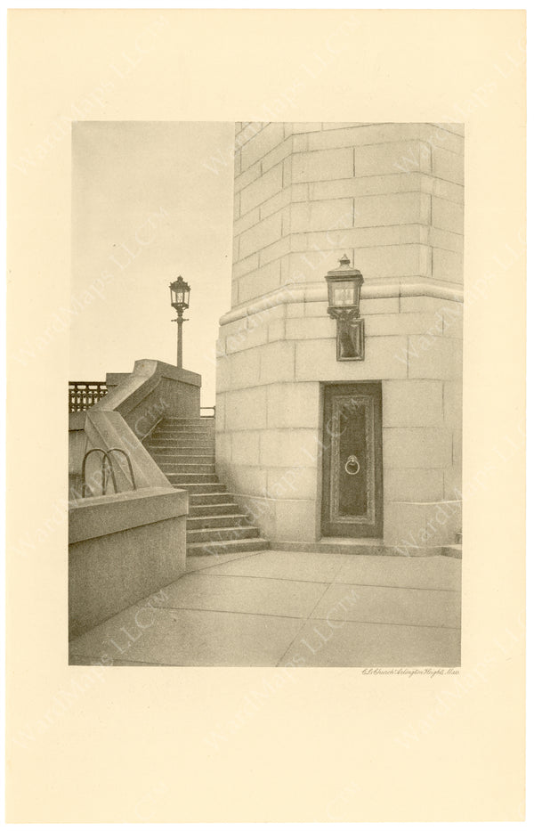 Cambridge Bridge Commission Report 1909: Completed Stairway at Tower