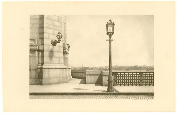 Cambridge Bridge Commission Report 1909: Completed Lights at Tower