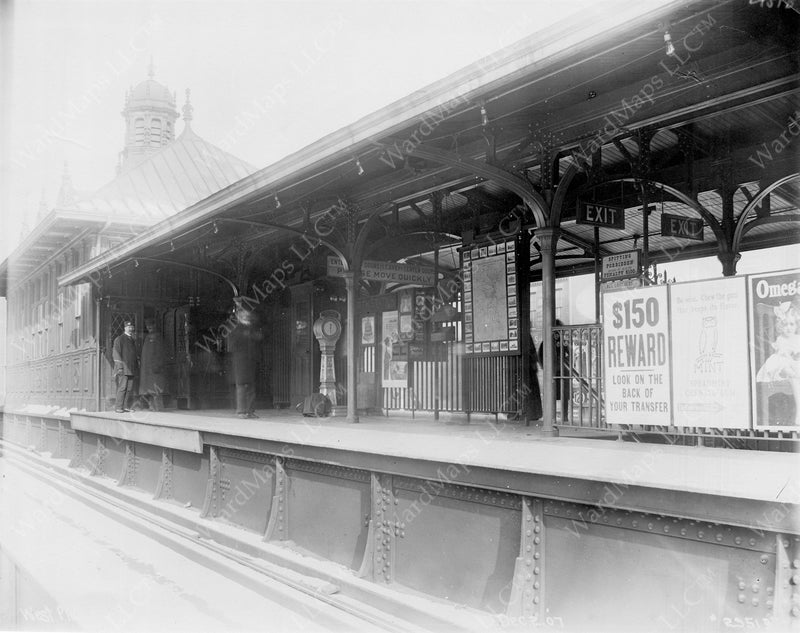 North Station on the Main Line Elevated, December 2, 1907