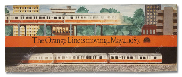 MBTA Orange Line Southwest Corridor Car Card 1987