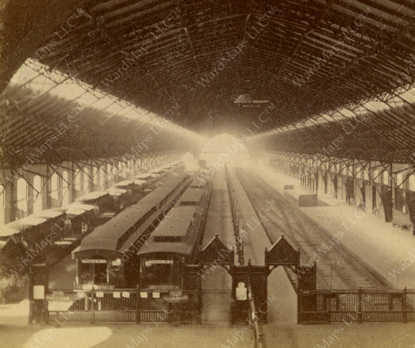Park Square Terminal Train Hall, Boston, Massachusetts Circa 1880s