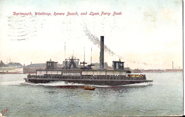 "Boston, Revere Beach & Lynn Railroad Ferry ""Dartmouth"""
