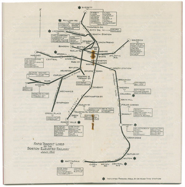 BERy Travel Information Map, July 1941