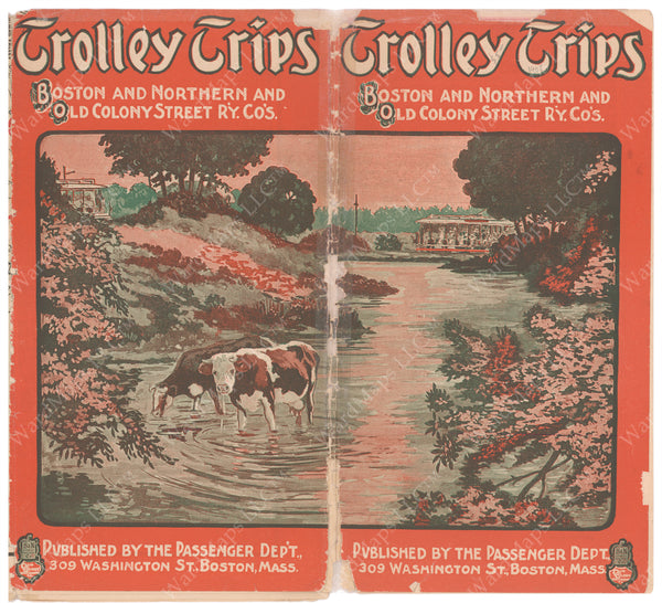 Trolley Trips Brochure Cover Circa 1910