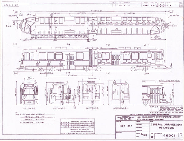 Vehicle Data Sheet 46001: MBTA Green Line Type 7 LRV 1984