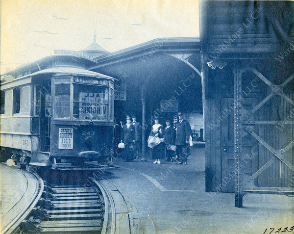 Boarding a Trolley At Dudley Street Terminal 1920