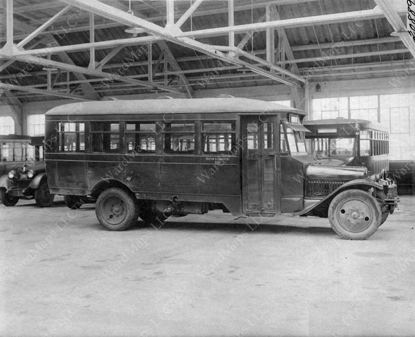 Bus at Union Square Car House, Somerville, Massachusetts 1926
