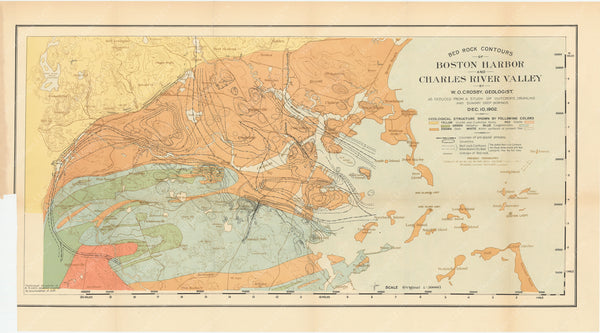 Charles River Dam Report 1903: Bedrock Contours of Boston Harbor and Charles River Valley 1902