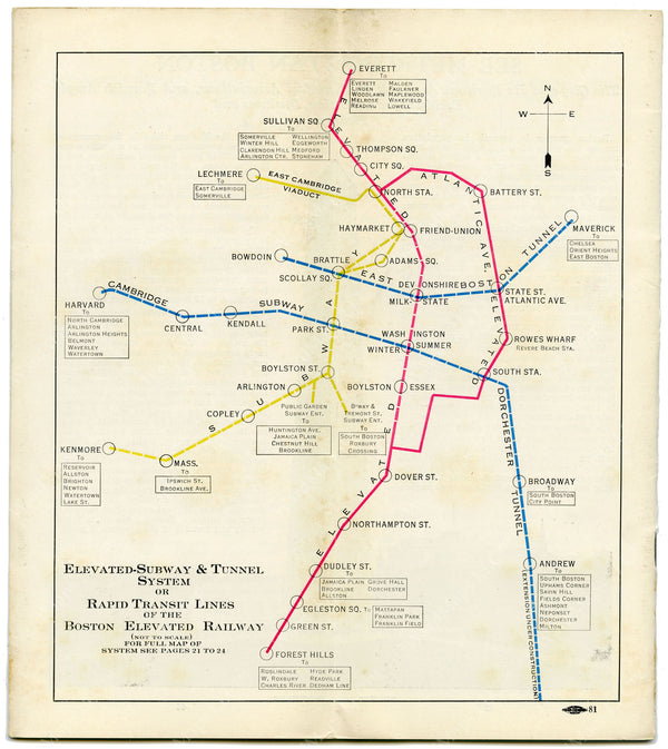 Boston Elevated Railway Rapid Transit Lines 1926