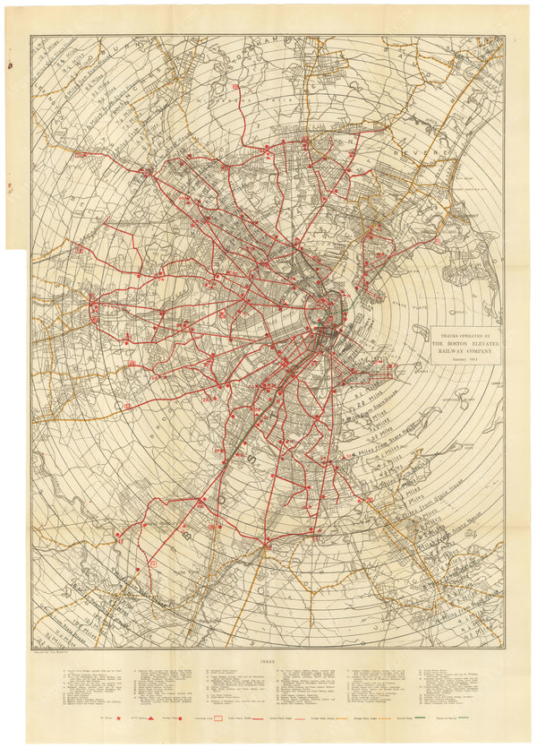 BTC Annual Report 20, 1914: Tracks Operated by the Boston Elevated Railway Co. 1914